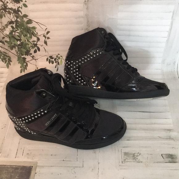 Adidas Neo Selena Gomez wedge high top metal studs